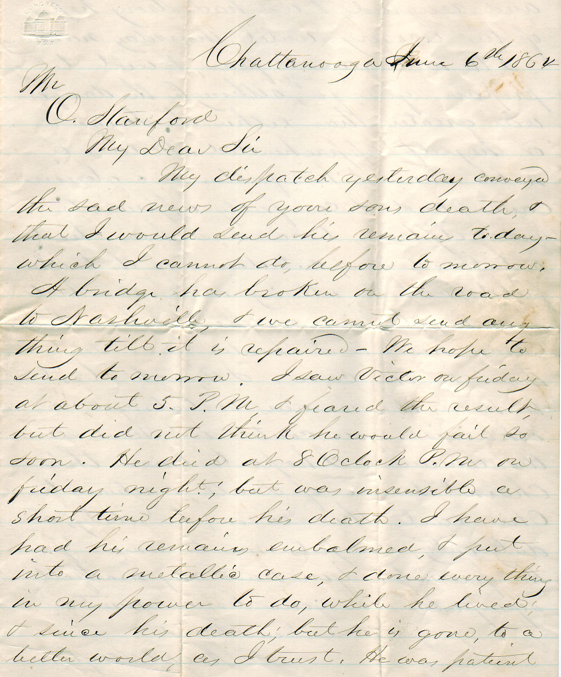 Military Death Letter